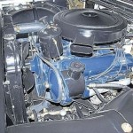 Cadillac engine compartment